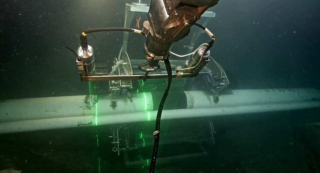 ARTEMIS performing inspection subsea
